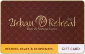 Urban Retreat spa gift card